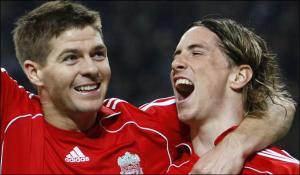 Steven Gerrard and Fernando Torres Liverpool